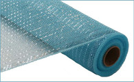 """Metallic Turquoise Blue with Turquoise Foil - 21"""" X 10Yd"""