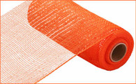 "10"" Deco Poly Mesh: Metallic Orange"