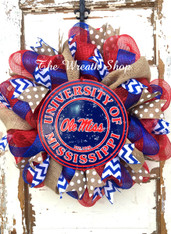 Ole Miss Mesh/Burlap Wreath