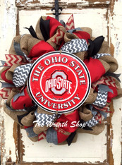 Ohio State University Buckeyes Wreath