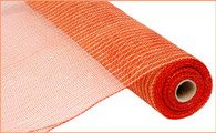"21"" Poly Jute Mesh: Orange/Red"