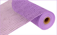 Deco Mesh - Metallic Mesh - Lavender with Lavender Foil (RE130113)