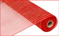 "21"" Poly Jute Mesh: Red"