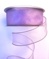 "1.5"" Sheer Wired Ribbon: Lavender (25yds)"