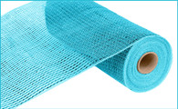 """10"""" Deco Poly Mesh: Wide Metallic Foil Turquoise"""