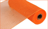 "10"" Deco Poly Mesh: Metallic Orange/Copper Foil"
