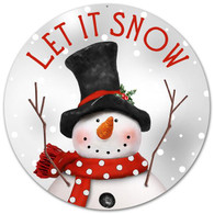 "12"" Metal Let it Snow Snowman Sign"
