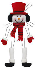 Plush Snowman Wreath Decor Kit: Red/Black