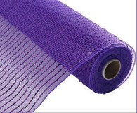 "NEW 10"" Deco Poly Mesh: Metallic Purple Wider Foil"