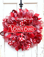 Candy Canes Wreath...While They Last