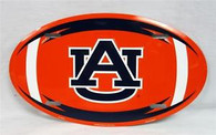 Auburn University Tigers War Eagle Embossed Metal Oval License Plate