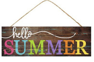 "15"" Summer Sign: Hello Summer"