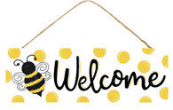 "15"" Bumblebee Welcome Sign"