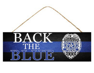 "15"" Back the Blue Police Sign"