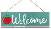 "15"" Welcome Sign with Apple"
