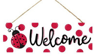 "15"" Ladybug Welcome Sign"