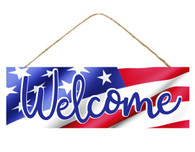 "15"" Patriotic Flag Welcome Sign"