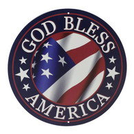 "12"" God Bless America Sign: Navy Blue"