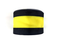 "2.5"" Black/Yellow Stripe Ribbon - 10Yds"