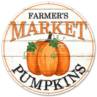 "12"" Farmer's Market Pumpkins Sign"