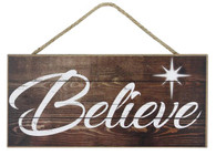 "12.5"" Rustic Believe Sign"
