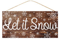 "12.5"" Rustic Let It Snow Sign"