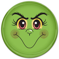 "12"" Metal Green Monster Face"