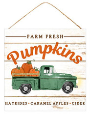 "10"" Farm Fresh Pumpkins Truck Sign"