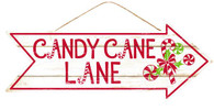 "16"" Candy Cane Lane Arrow Sign"