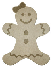 "14"" Unfinished Gingerbread Girl"