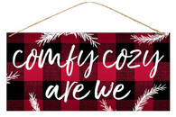 "12"" Tin Comfy Cozy Are We Sign"