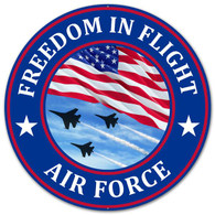 "12"" Freedom in Flight Air Force Metal Sign"