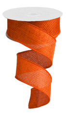 "1.5"" Cross Royal Faux Burlap Ribbon: Orange - 10Yd"