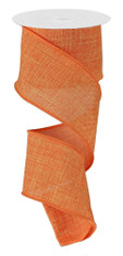 "Orange Royal Faux Burlap Ribbon - 2.5"" x 10Yd (RG127920)"