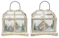 "4"" Paper Glass House Ornament"