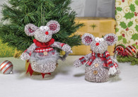 Plush Christmas Mouse Ornament