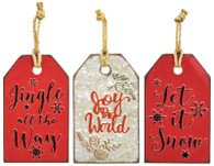 "12"" Metal Gift Tag Wall Hangers"