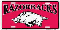 University of Arkansas Razorbacks Embossed Metal License Plate (LP-846)