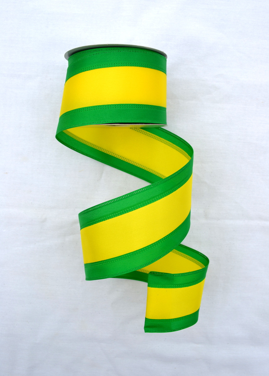 Yellow And Green Living Room Decor: Green And Yellow Tri-Stripe Ribbon
