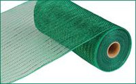 "10"" Deco Poly Mesh: Metallic Emerald Green with Green Foil"