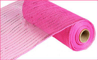 "10"" Deco Poly Mesh: Metallic Hot Pink with Hot Pink Foil"