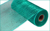 "10"" Deco Poly Mesh: Metallic Teal with Teal Foil"