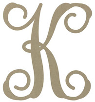 "12"" Wooden Vine Monogram Unfinished"