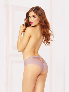 High Waisted Lace Up Panty