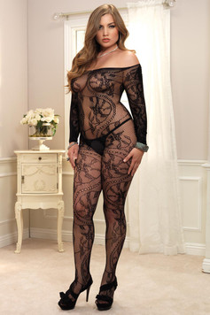 Spiral Lace Bodystocking