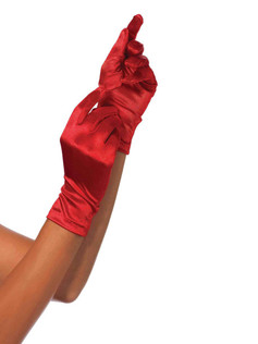 Satin Wrist Length Gloves