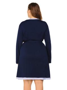 Contrast Trim Soft Robe
