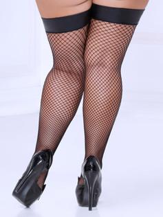 Wet Look Fishnet Stockings