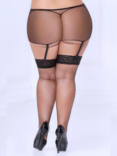 Mesh Garterbelt Stockings