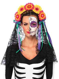 Day Of The Dead Floral Headband